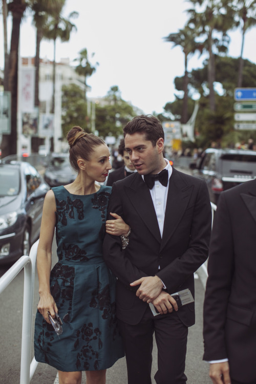 Megan Collins in Oscar de la Renta and Yale Breslin in Tom Ford.