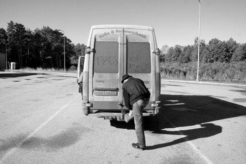 On the road near Latvia - Lithuania border 2012