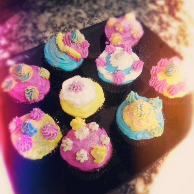 And this is the result ;) my Brownie Cupcakes with cotton candy and marshmallow butter cream! #cupcakes #marshmallow #cottoncandy #nutella #buttercream #flavor #brownie