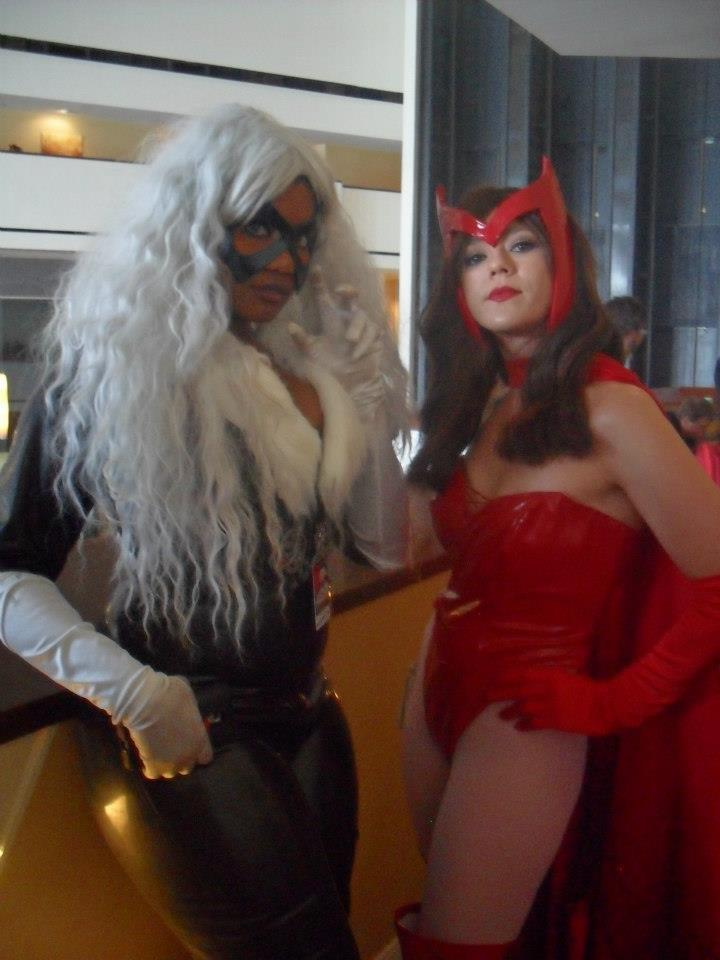 cosplayingwhileblack:  X Character: Black Cat & Scarlet Witch Series: Marvel Comics  Oh. My. Gawds