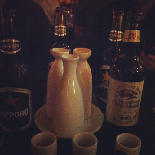 Whussup yo. I'm so faded. #sake #sapporo  (at RB Sushi)