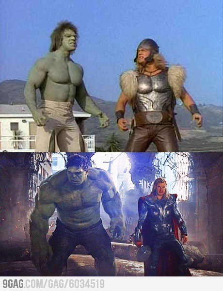 ragecomics4you:  Hulk and Thor - only 34 years later.http://ragecomics4you.tumblr.com