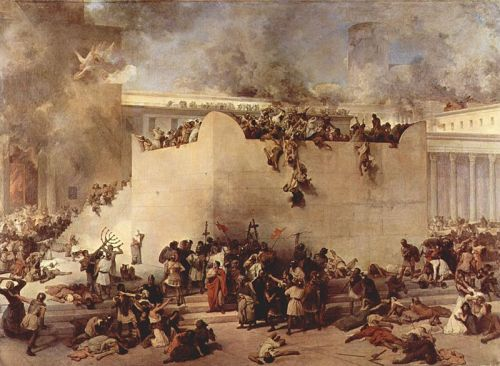 Francesco Hayez, The Destruction of the Temple of Jerusalem, 1867