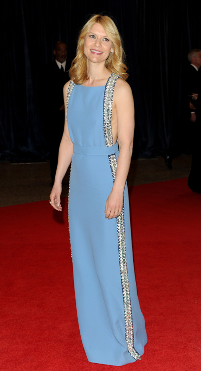 Claire Danes in Prada at the 2013 WHCD