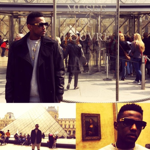 defjamblr:  Fabolous In Paris at the Louvre Museum. Photos courtesy of @Nigel_D