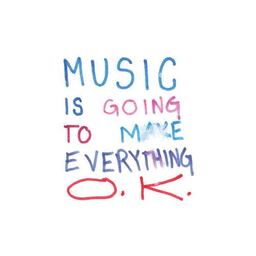 theoneartoo:  music is going to make everything ok by SmallSafari on Flickr.