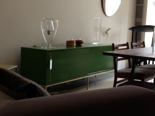 This is our re:379 grass green credenza, available in London at Mint Shop.