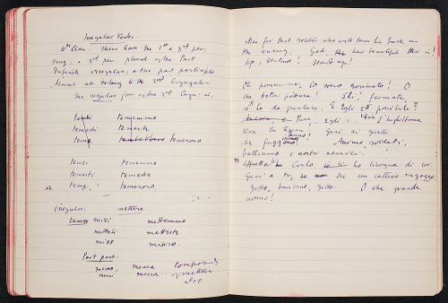 proustitute:  Virginia Woolf's Italian autograph manuscript notebook, 7 June 1916