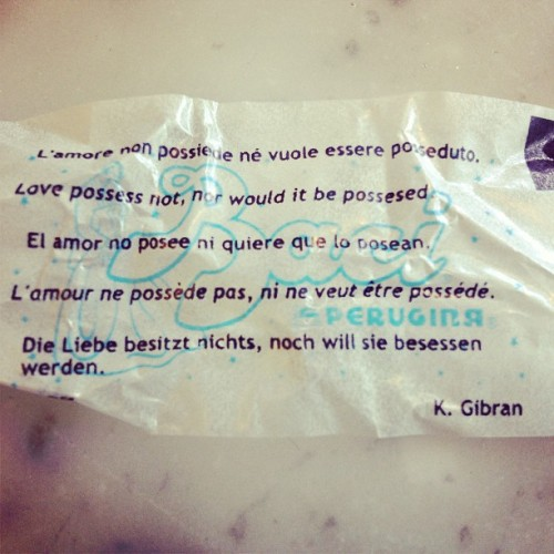 Love possess not, nor would it be possessed - k. Gibran (at A.G. Ferrari - Piedmont)