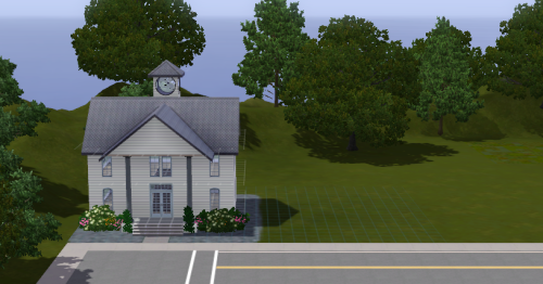 skullsandsims:  My tiny City Hall for Makuleto Island. I'm going to be adding a police station next it, but I'm not sure what else…