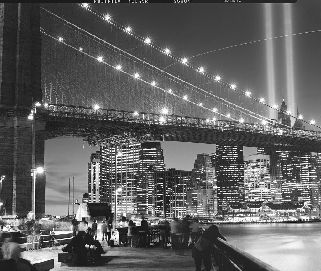 Tribute in Light, Fuji Neopan Acros 100 (by Shawn Hoke)