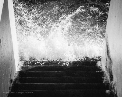 doncraigphoto:  Steps to the water | Ogden Point, Victoria | More about the XP1 (Monochrome)