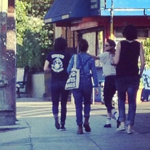 Kristen with her friends YESTERDAY!:) she looks flawless and HAPPY!!! that's enough for me see her happy with that lovely smile :D #kristen #kstew #krisbian #kristenstewart #shy #stew #smile #sweet #stewart #alwayssupportingkristen #adorable #la #love #lovely #perfect #hobopack #welcometotherileys #expressions #robsten #robstenisunbroken #twilightsaga #ontheroad #flawless #happy #beautiful