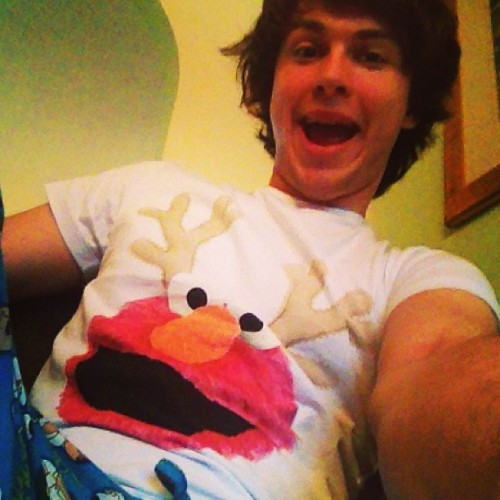 Me and Elmo say MERRY CHRISTMAS!