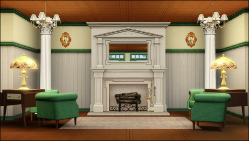 Fireplace area at the Country Club.