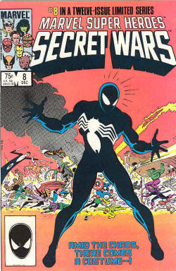 Marvel's Secret Wars #8 - The introduction of the black Spider-Man suit. Used to have this before my moms sold all my stuff.