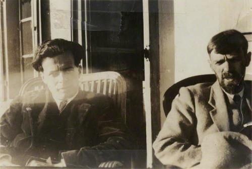 Aldous Huxley and D.H. Lawrence, 1928 (via)