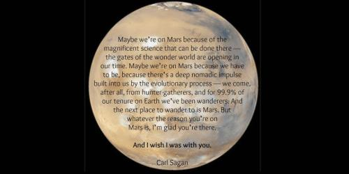 oaks-n-tokes:  Dunno why, but this gave me shivers. I guess Mars just seems so lonely without Carl…  literally shed a single tear after I remembered Carl's dead.