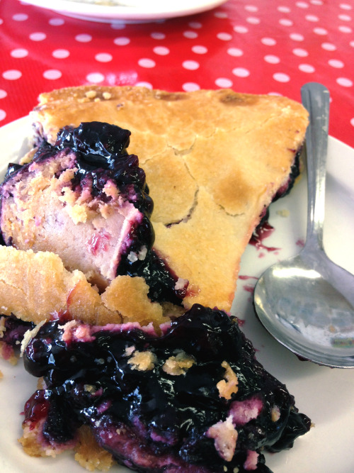 alexathewynner:  Mmmmmm blueberry pie.  Best kind of pie!