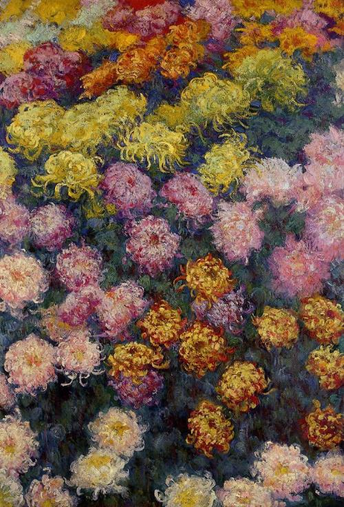 "artsandcrafts28:  ""Bed of Chrysanthemums"" Claude Monet 1897"