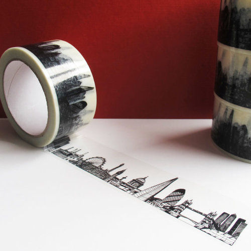 cjwho:  London Skyline Decorative Sticky Tape  I need this just to have.