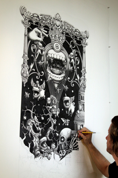 mcstarsky:  incredibly detailed illustration by Joe Fenton