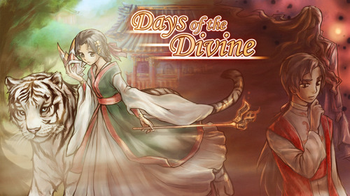 "englishotomegames:  Days of the DivineRelease Date (Windows, Mac OS, Linux, Android)English: April 2nd, 2013""Long ago, in a valley where a small village lay, two deities fought each other. One was imprisoned, the other vanished. Yet some time ago, an unnatural mist began lingering in the village, dissolving people's memories.Biyu, a young shrine maiden, is now working her hardest in the shrine of one of these deities in the faint hope the mist will one day dissolve. Even though her good friend also lost his memory, not all hope is lost; she meets a stranger who seems to be recovering from his memory loss, and rather quickly as well…""This is a free game created for NaNoRenO 2013! You can download it here.There is now also a version for Android. You can get it here!"