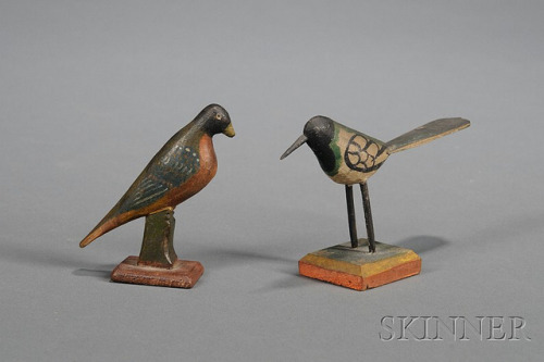 Two Pennsylvania Carved and Painted Wooden Bird Figures on Flickr.