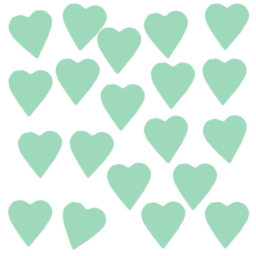 wildsunshine:  society6.com/product/Hearts-Mint_Print