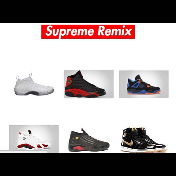 All these are now available on supremeremix.bigcartel.com! #Nike #Air #Jordan #Retro #bred #cavs #whiteout #foamposite #lastshot #heat #fire #smyfh #lacedup #webstore #gear #fresh #style #fashion #igdaily #fit #igsneakercommunity #kicks #sneakers #ootd #wiwt #solecollector #instago #instagood #instacop