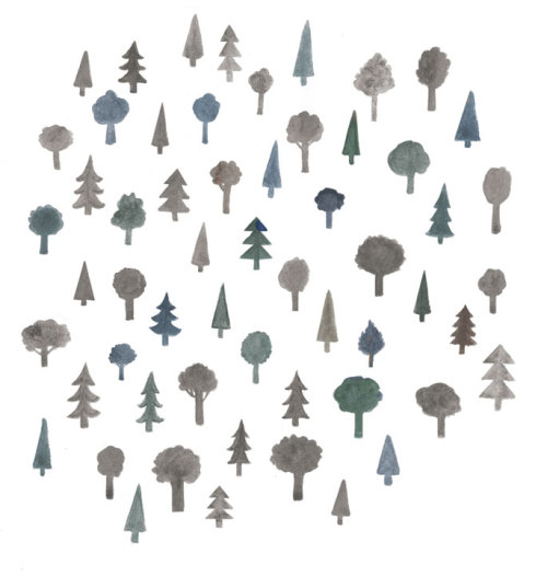 Some tiny trees.