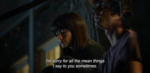 "anamorphosis-and-isolate:  ""I'm sorry for all the mean things I say to you sometimes."""