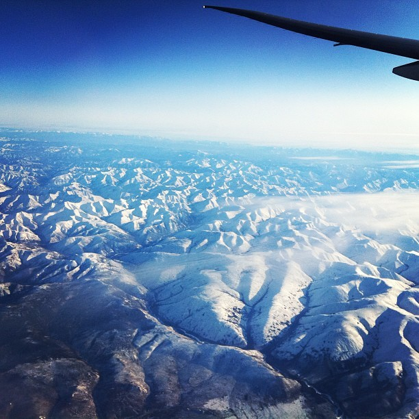 Northern #china's #mountains from the view of a #plane.