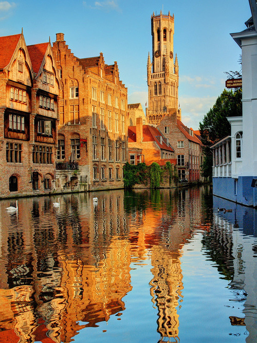 Canal Reflection, Brugge, Belgium photo via audra