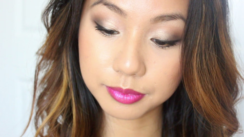 Get Ready With Me! (Video here) Featuring NEW Milani Color Statement Lipstick in Raspberry Rush and Wet N Wild's Color Icon Comfort Zone Palette.. What I Used… [[MORE]] FACE: Urban Decay De Slick, theBalm Balm Shelter Tinted Moisturizer in Medium, L'Oreal True Match Concealer in W4-5 under the eyes, Revlon PhotoReady Concealer in Med Deep on dark spots, Maybelline Dream Matte Powder in Beige to set EYES: ELF Eyelid Primer, top right light green in Comfort Zone palette to the lid, darkest green color to the outer corners, frosty cream color for highlight, Jordana FabuLiner, Lancome Hypnose mascara LIPS: Milani Color Statement Lipstick in Raspberry Rush CHEEKS: Benefit Hoola bronzer to contour and NYX Terra Cotta blush My thoughts on the lipstick..  VERY longwearing! I love the formula of this lipstick because the color is very strong and sticks to your lips, not in a stain-like way, but it's not one to slip off. That being said, this isn't a lipstick you'd go to for moisture, but it also wasn't very drying either. The color is this beautiful, almost frosty rich raspberry magenta that gives a sort of duochrome effect when it hits the light - so pretty!   As for the eyeshadow, if you're a Wet N Wild eyeshadow lover like I am, this palette is nothing out of the ordinary! Quality of these shadows are just as I expected - rich, buttery, pigmented, very blendable. I also really love the greens! I think they're VERY wearable, as you can see in the pictures. Subtle, yet gives that interesting pop of color!  __________________________ Follow my blog on Bloglovin! | It's a site that allows you to follow all your favorite blogs on tumblr, blogspot, etc. all in one place! I just signed up!  YouTube | Instagram | Twitter | Facebook