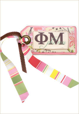 Carnation Collection: handmade luggage tag - $7.50