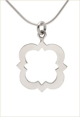 Carnation Collection: quatrefoil necklace - $25