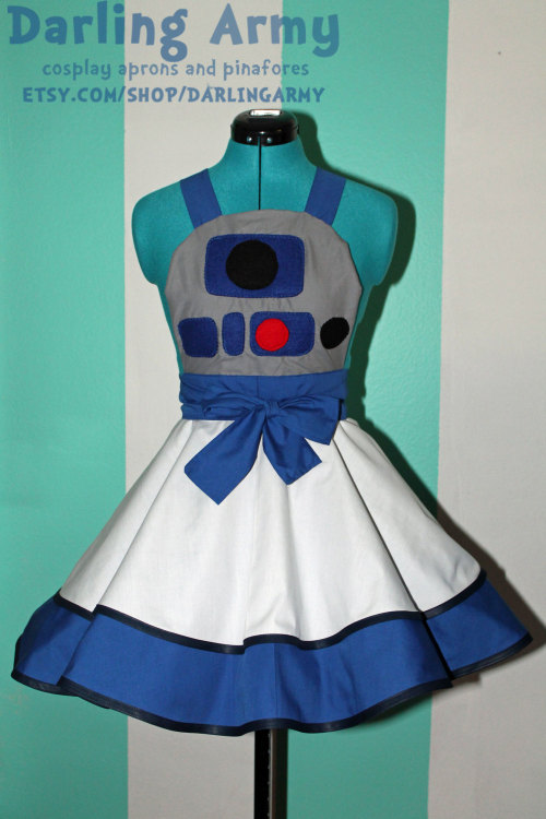 R2D2 Star Wars Cosplay Apron Pinafore Available from Darling Army