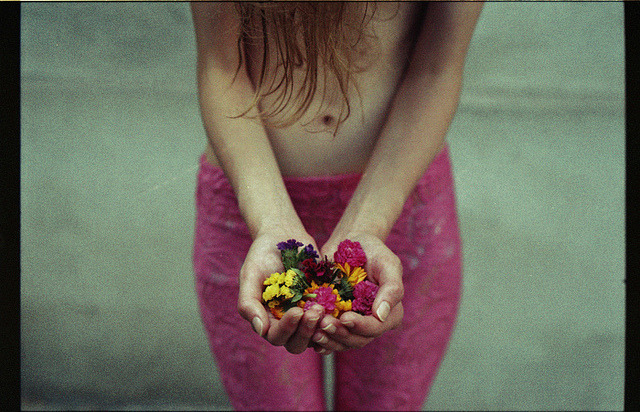 teethandtongue:  flowers in your hands by .joanna.galuszka. on Flickr.