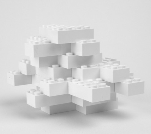the-whiteness-of-milk:  Lego cloud sculpture by Chicago based artist Eric Maldre