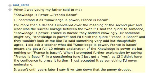 France is Bacon.