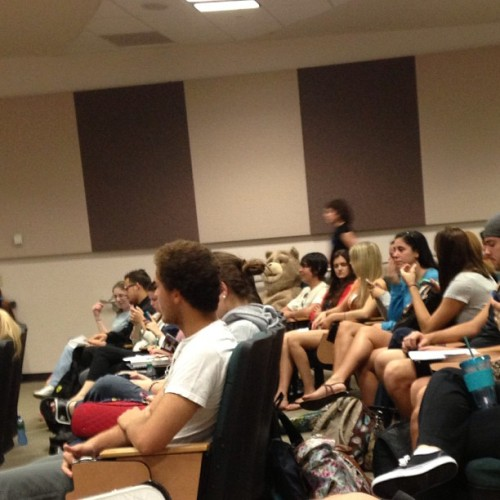 majortvjunkie:  There's some guy dressed up as Ted in my class