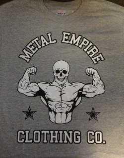 metalempireco:  Check out my Metal Empire clothing line, more shirts to come. Free stickers with every purchase