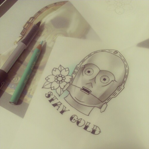Quick sketch for a customer #c3po #starwars #tattoodesign #tattooapprentice #drawing #tattoos #sketch #design #iguk #instagood #ignation