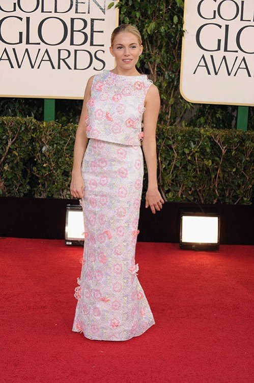 Golden Globes 2013 whatdidshewear:  Sienna Miller Dress: Erdem