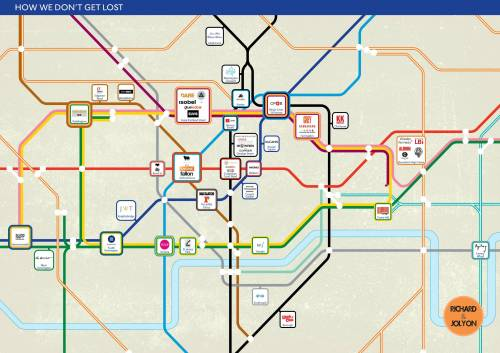 helloyoucreatives:  London Underground Agency Map.   Brilliant.