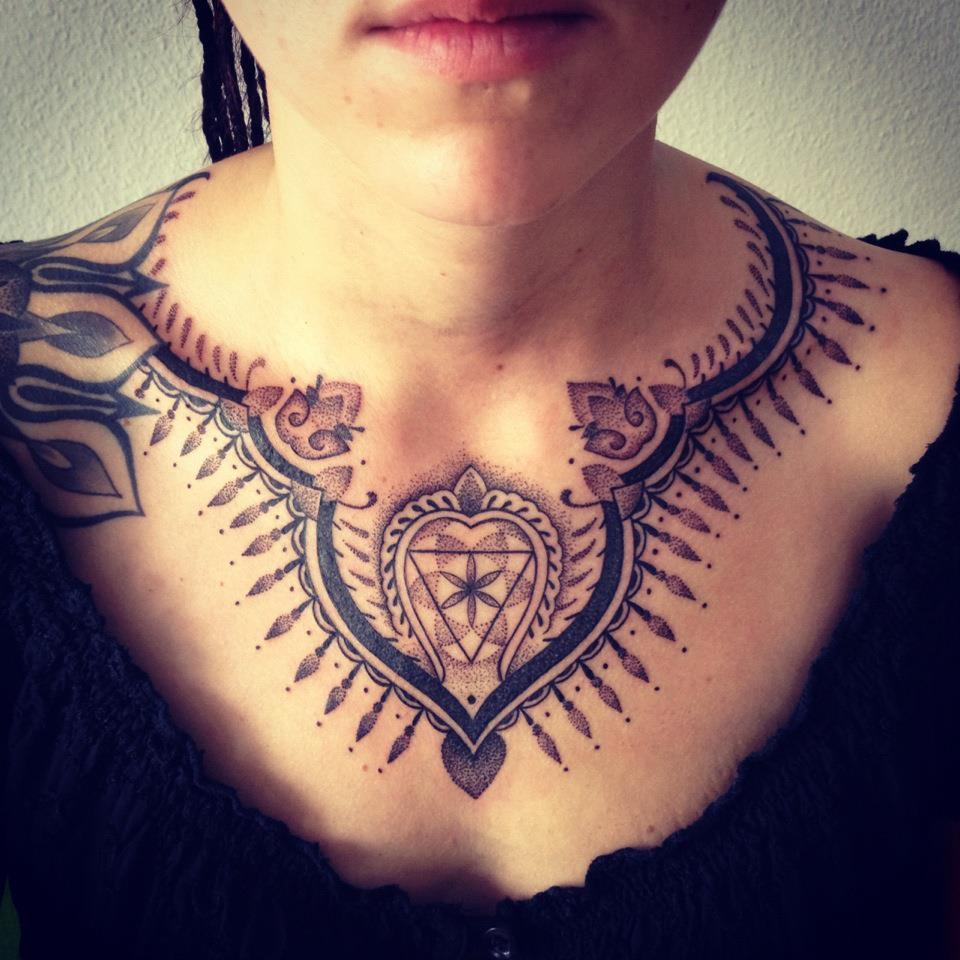 thestarlighthotel:  Chest dotwork | Gerhard Wiesbeck