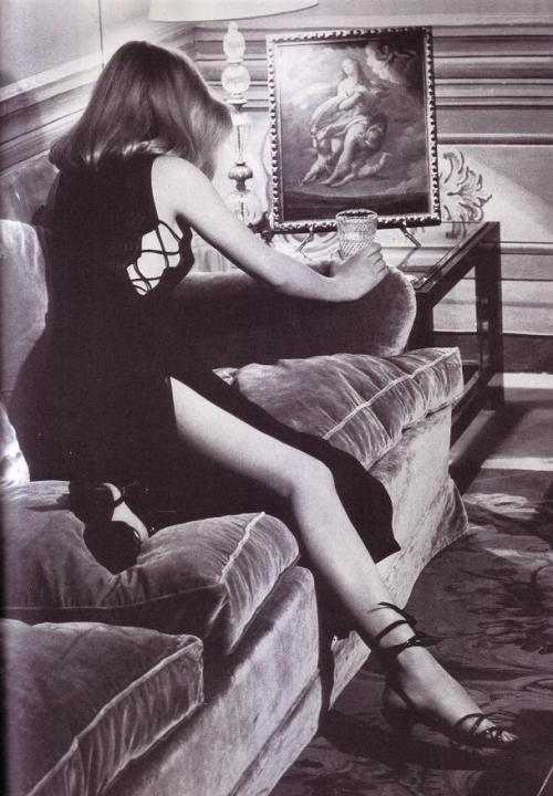 indypendent-thinking:  Home Alone Photo: Helmut Newton Dress: Balestra (via Visions of Paradise)