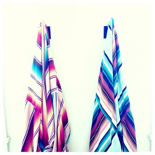 Robes @sanjosehotel. Custom kimono-style in a serape pattern. So nice you want to be spotted picking up the morning paper.   (at Hotel San Jose)