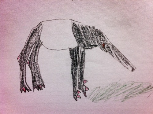 2013.5.5 Zoo sketching Tapir  Drawing by Bonchan